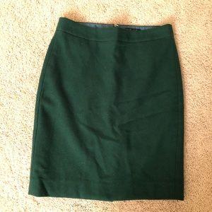 J Crew wool pencil skirt size 2